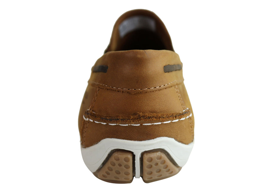Ferricelli Jarrod Mens Leather Cushioned Loafer Shoes Made In Brazil