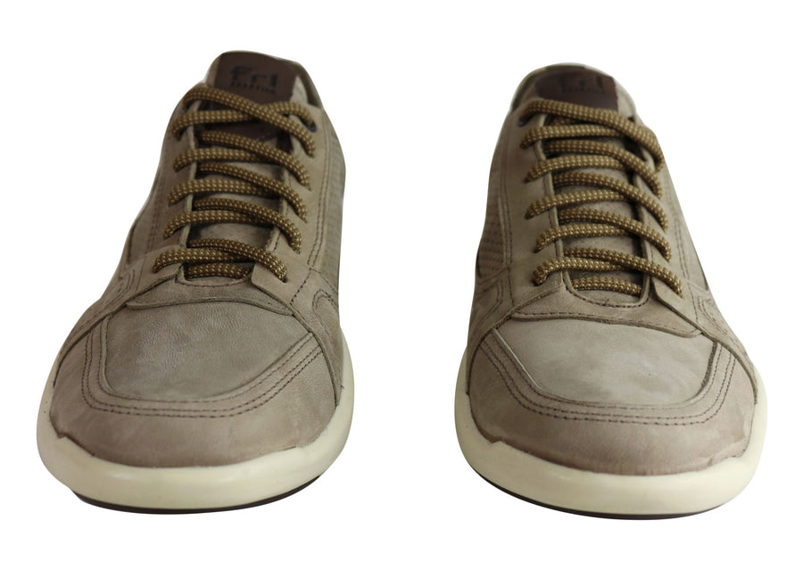 Ferricelli Grant Mens Leather Cushioned Casual Shoes Made In Brazil