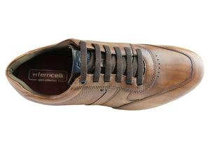 Ferricelli Neals Mens Comfort Leather Slip On Casual Shoes Made In Brazil