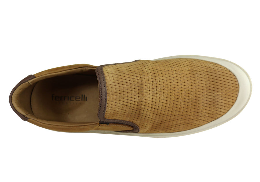 Ferricelli Justin Mens Leather Cushioned Casual Shoes Made In Brazil