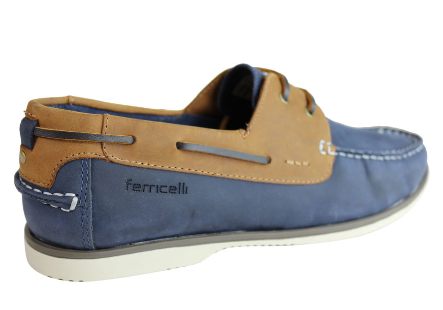 Ferricelli Gordon Mens Casual Leather Lace Up Shoes Made In Brazil