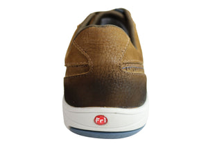 Ferricelli Orbit Mens Leather Slip On Casual Shoes Made In Brazil
