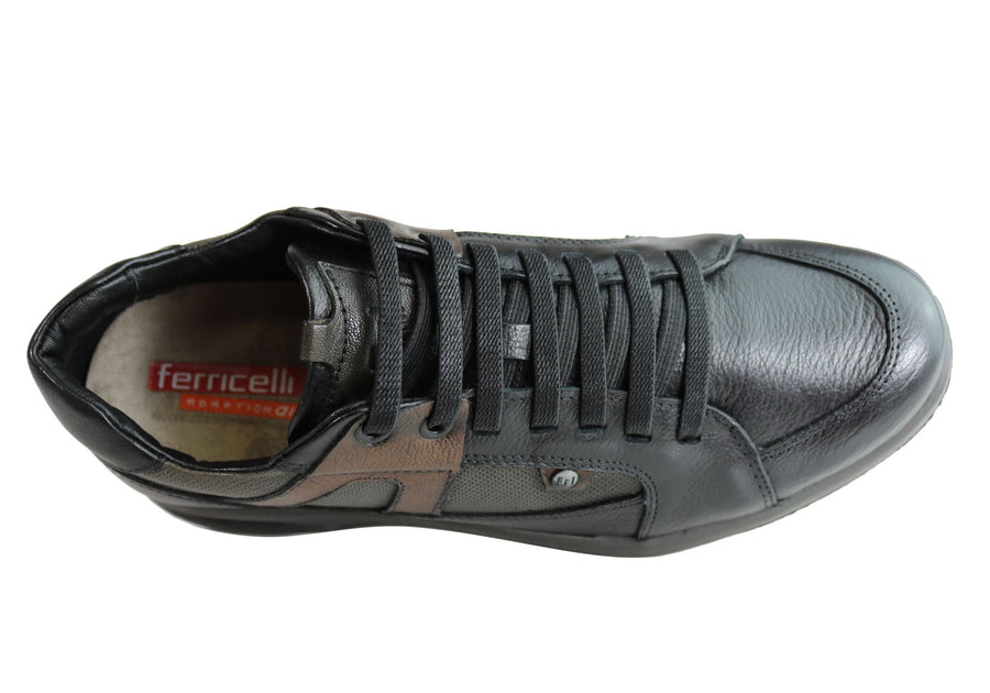 Ferricelli Hutchy Mens Leather Slip On Casual Shoes Made In Brazil