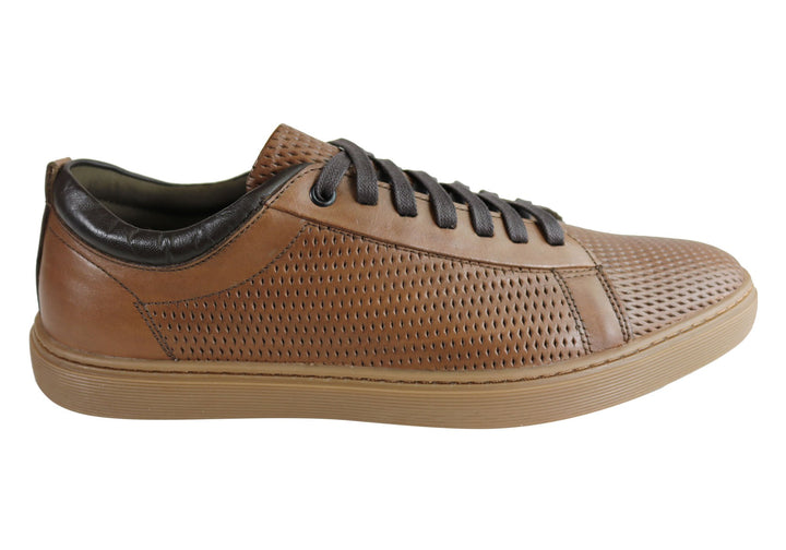 Ferricelli Finch Mens Leather Lace Up Casual Shoes Made In Brazil