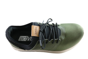 Actvitta Phoenix Mens Cushioned Lace Up Active Shoes Made In Brazil