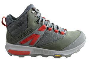 Merrell Mens Zion Mid Gore Tex Comfortable Hiking Boots