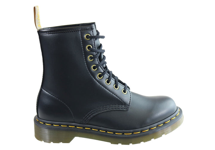 Dr Martens 1460 Black Vegan Fashion Lace Up Comfortable Unisex Boots