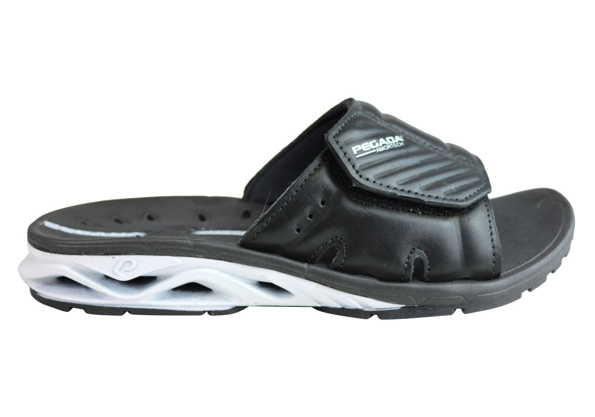 85276b789030 Pegada Ray Mens Comfort Cushioned Sports Slides Sandals Made In Brazil
