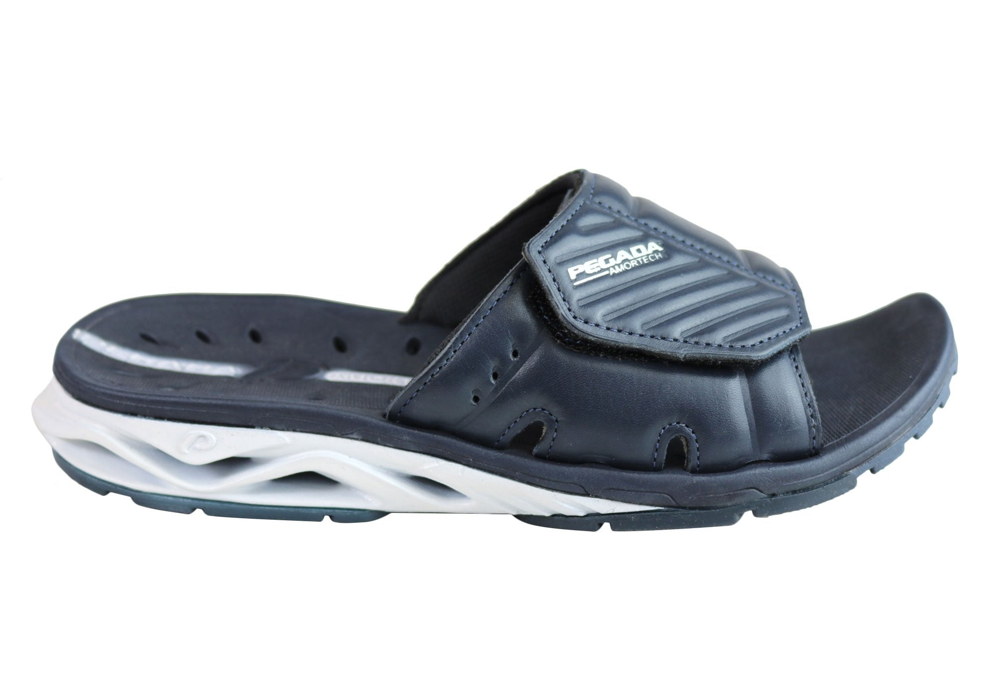 c32598acec6 Pegada Ray Mens Comfort Cushioned Sports Slides Sandals Made In Brazil