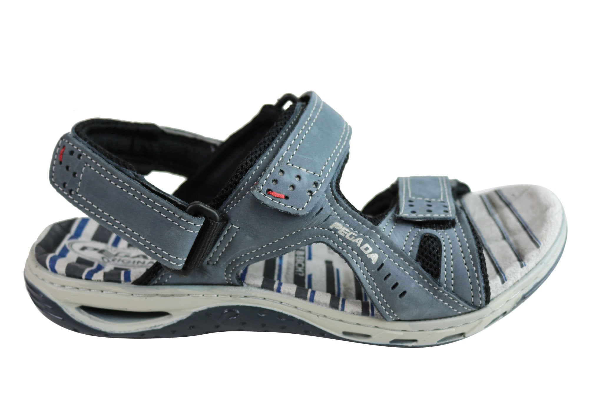 9cf5418d600 Pegada Jim Mens Leather Comfortable Cushioned Sandals Made In Brazil