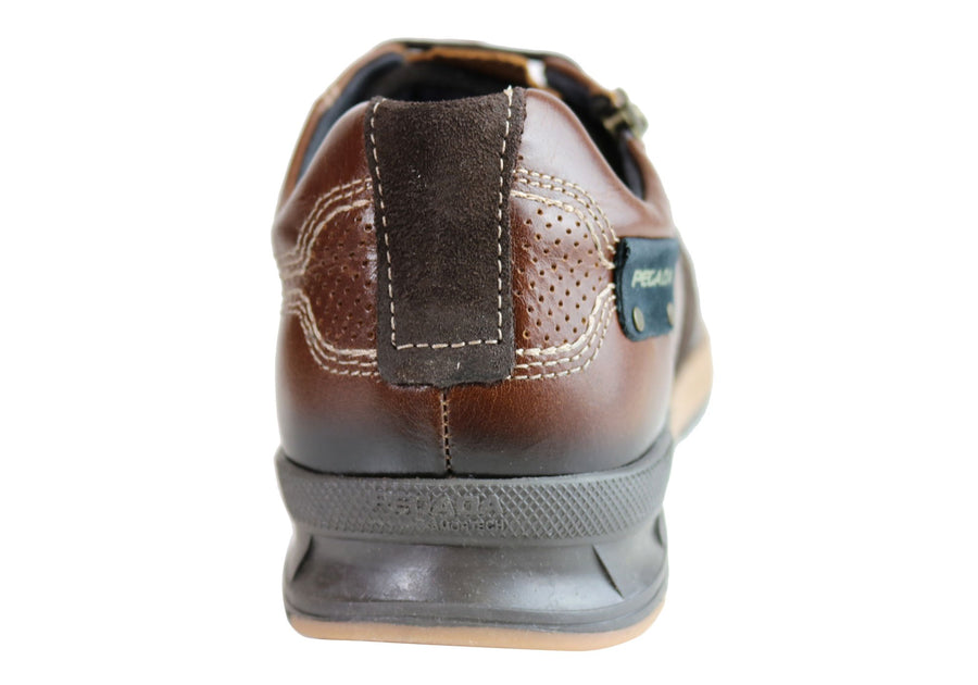 Pegada Ed Mens Leather Slip On Comfort Casual Shoes Made In Brazil