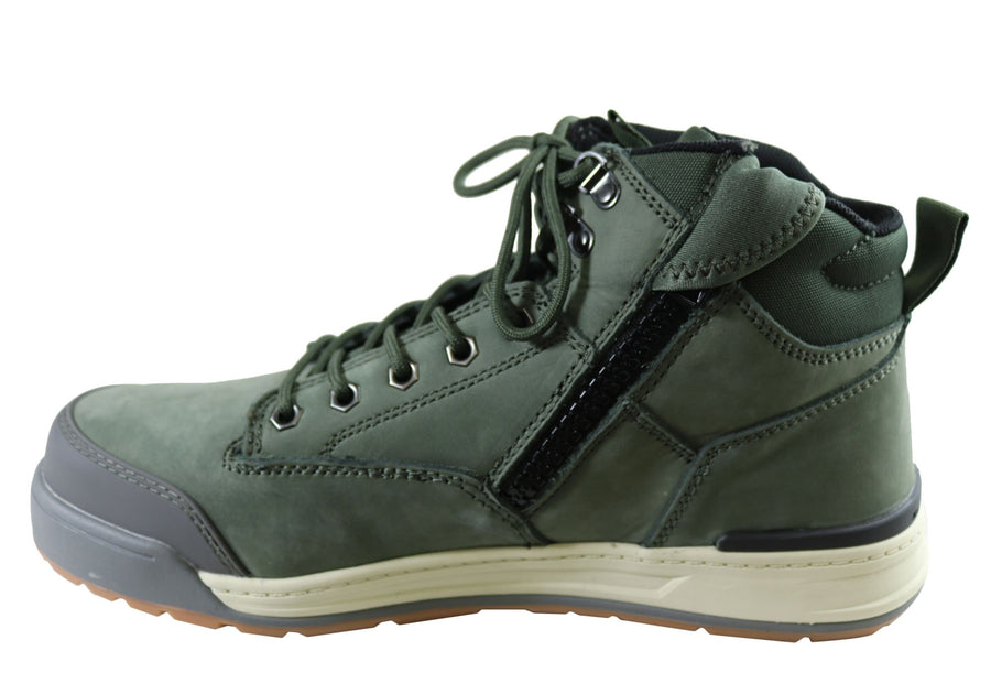 Hard Yakka Mens 3056 Comfortable Side Zip Steel Toe Work Boots