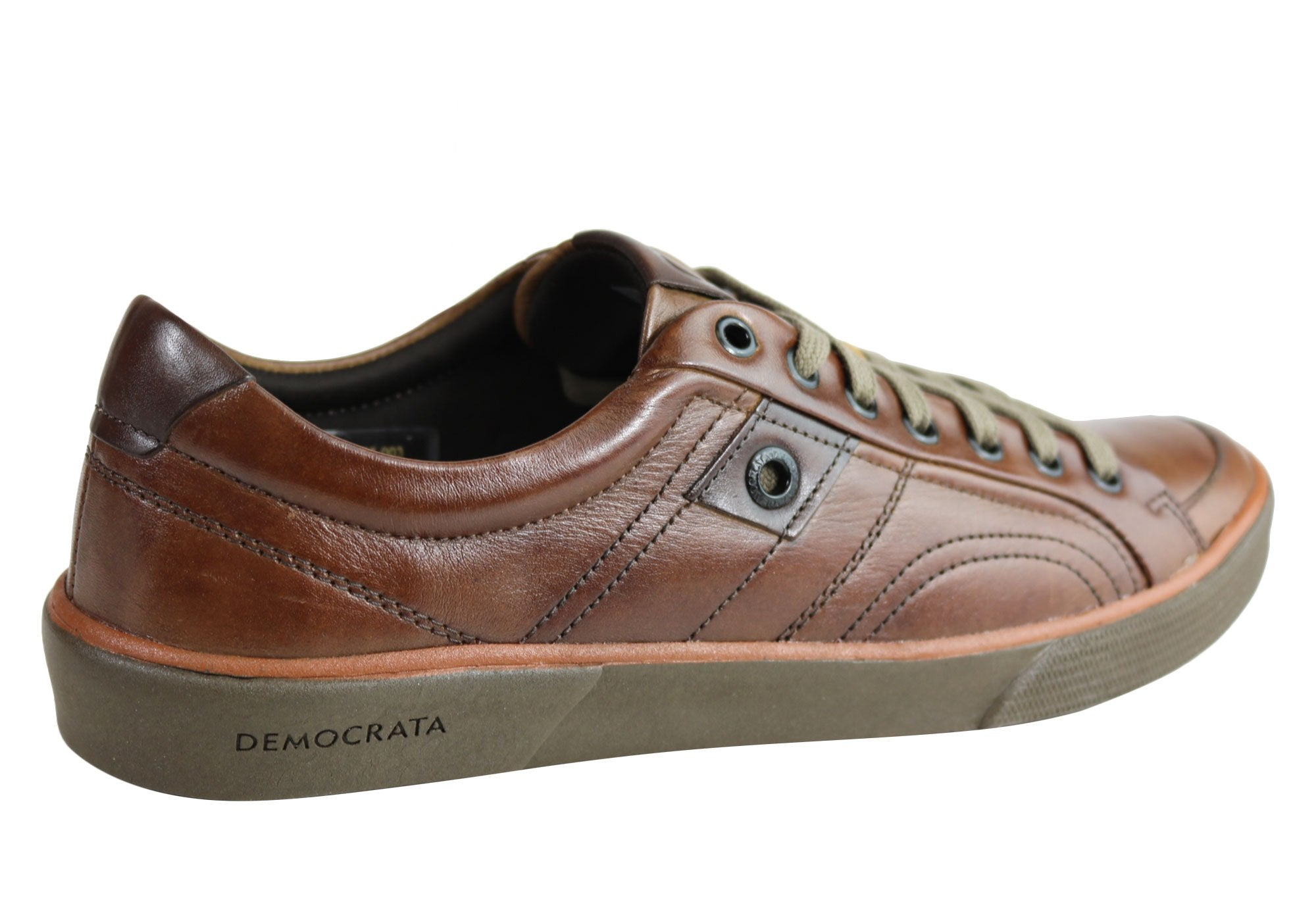NEW DEMOCRATA JETT MENS LEATHER LACE UP CASUAL SHOES MADE IN BRAZIL