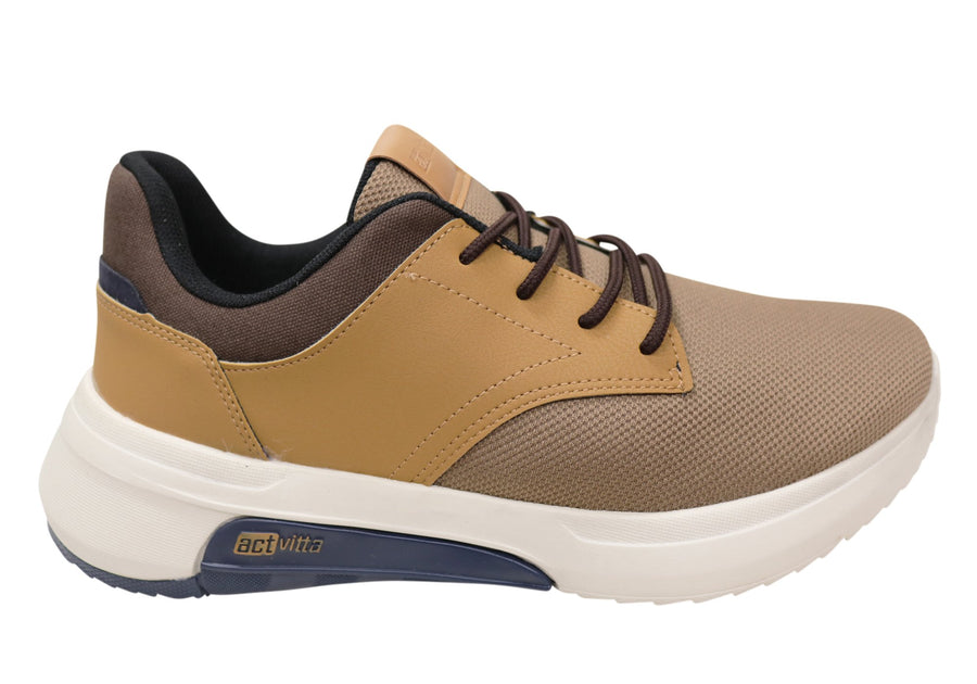 Actvitta Jac Mens Comfortable Cushioned Active Shoes Made In Brazil