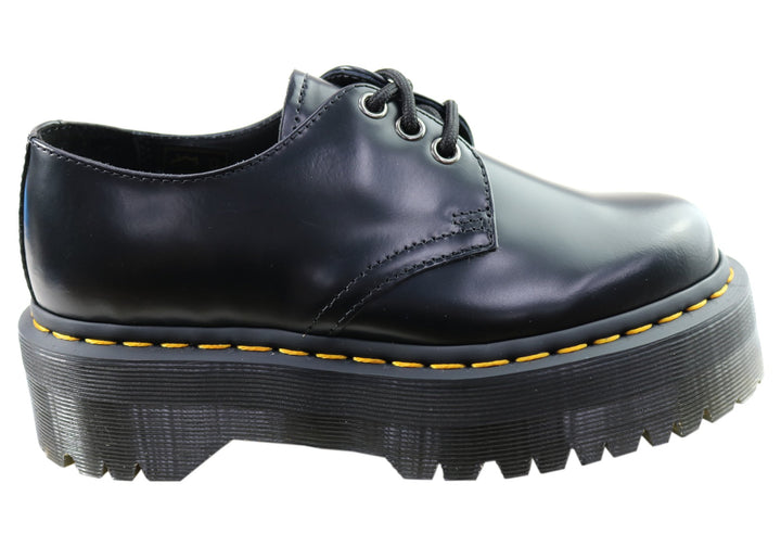 Dr Martens 1461 Quad Polished Smooth Lace Up Comfortable Unisex Shoes