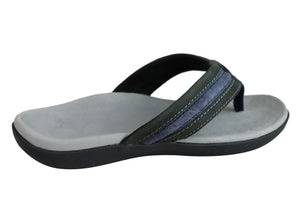 Scholl Orthaheel Crown Mens Comfortable Supportive Thongs