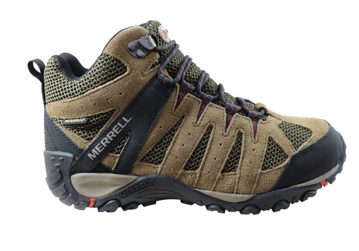 Merrell Mens Accentor 2 Vent Mid Waterproof Comfortable Hiking Boots