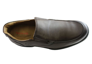 Ferricelli Vinnie Mens Leather Slip On Comfort Shoes Made In Brazil