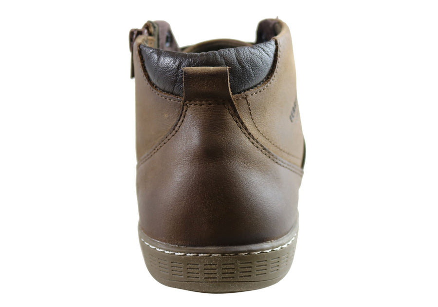 Ferricelli Beat Mens Leather Dress Casual Boots Made In Brazil