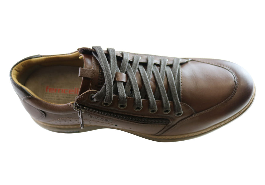 Ferricelli Max Mens Comfort Lace Up Casual Shoes Made In Brazil