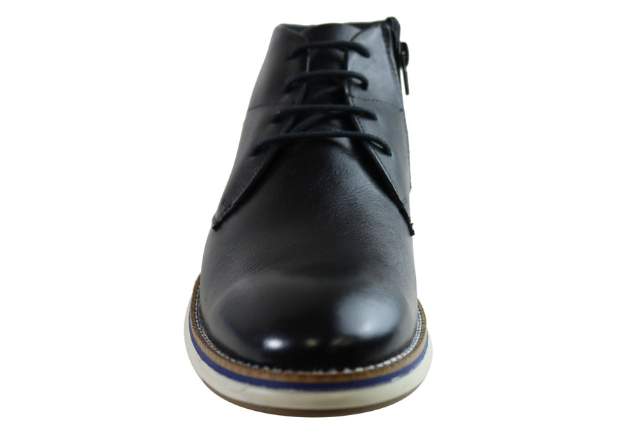 Ferricelli Dennis Mens Leather Lace Up Boots Made In Brazil