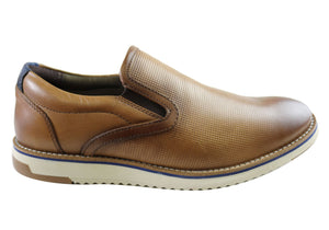 Ferricelli Lawrence Mens Comfort Leather Slip On Shoes Made In Brazil