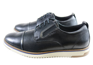 Ferricelli Kiran Mens Leather Dress Casual Shoes Made In Brazil