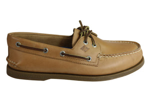 Sperry Mens A/0 2 Eye Leather Lace Up Comfortable Wide Fit Boat Shoes