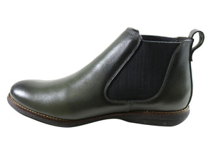 Savelli Hans Mens Comfort Leather Chelsea Dress Boots Made In Brazil