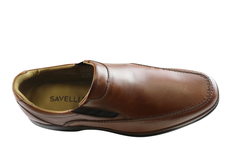 Savelli Briggs Mens Comfort Slip On Leather Dress Shoes Made In Brazil