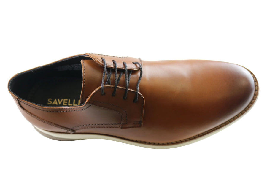 Savelli Jase Mens Leather Dress Casual Shoes Made In Brazil