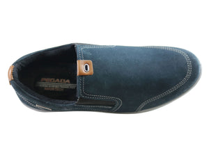 Pegada Lincoln Mens Leather Slip On Comfort Casual Shoes Made In Brazil