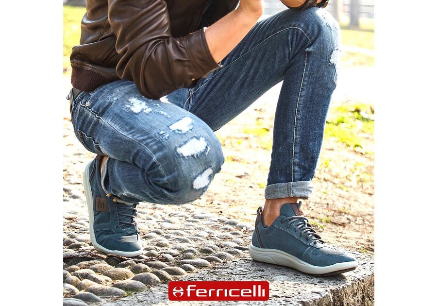 Ferricelli Stan Mens Leather Lace Up Comfy Casual Shoes Made In Brazil