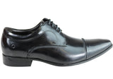 Democrata Evan Mens Leather Cushioned Dress Shoes Made In Brazil
