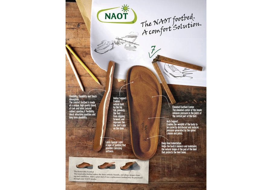 Naot Martin Mens Comfort Adjustable Orthotic Friendly Leather Sandals