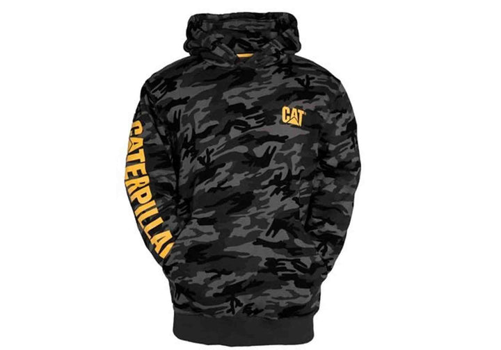 Caterpillar Mens Comfortable Trademark Banner Hooded Sweat