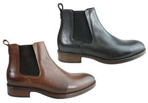 Wild Rhino Wolfe Mens Comfort Leather Chelsea Boots Made In Portugal