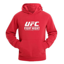 Load image into Gallery viewer, Male Fashion Pure Color Printed UFC Hooded Sweatshirts