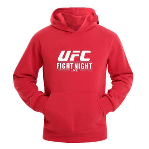 Male Fashion Pure Color Printed UFC Hooded Sweatshirts