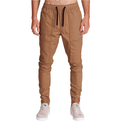 Solid Color Casual Slim Trousers