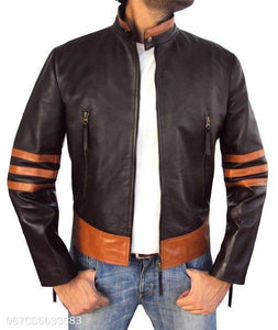 Mens Fashion PU Leather Jacket