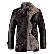 Load image into Gallery viewer, Stylish Casual Youth Thermal Leather Button Long Sleeve Men Outerwear