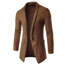 Load image into Gallery viewer, Gentle Business Fashion Slim Plan V Collar Long Sleeve Men Outerwear