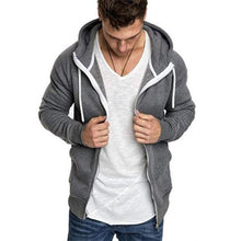 Load image into Gallery viewer, Sport Fashion Youth Slim Plain Zipper Long Sleeve Men Outerwear
