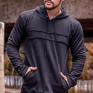 Classic Casual Long Sleeves Loosen Plain Hoodie