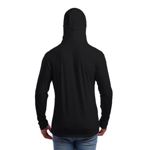 Fashion Casual Long Sleeves Hooded Knitting T Shirt