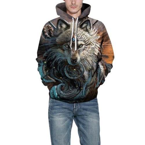 Male Wolf Warrior By Sunimaart Hoodie