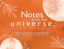 Load image into Gallery viewer, Notes from the Universe 2020 Guided Calendar - PDF DOWNLOAD