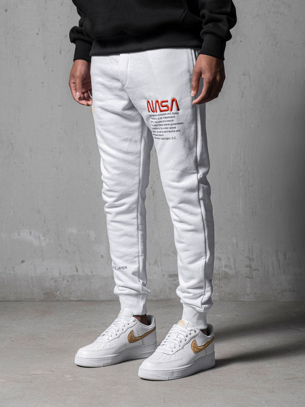 White NASA Sweatpants