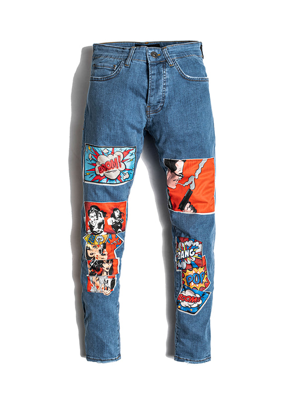 Comic Books Blue Jeans